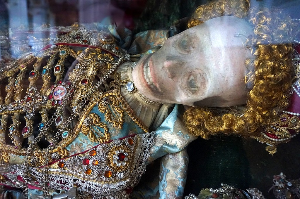 St. Valentin in Bad Schussenried is one of a pair of catacomb saints displayed at the Church of St. Magnus.
